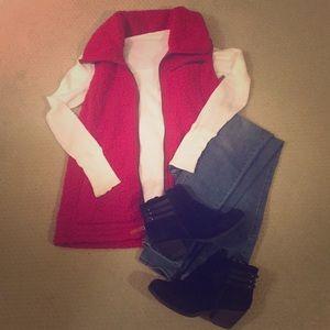 Red winter vest